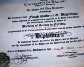 Tagalog (Filipino) degree translation